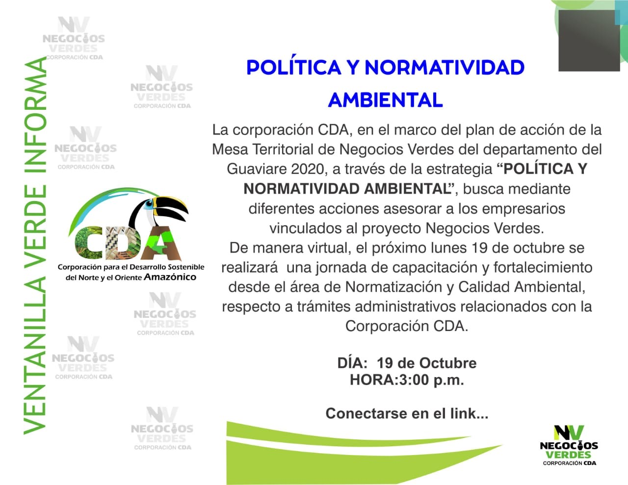 imagen alusiva a  videoconferencia -Política y Normatividad Ambiental-