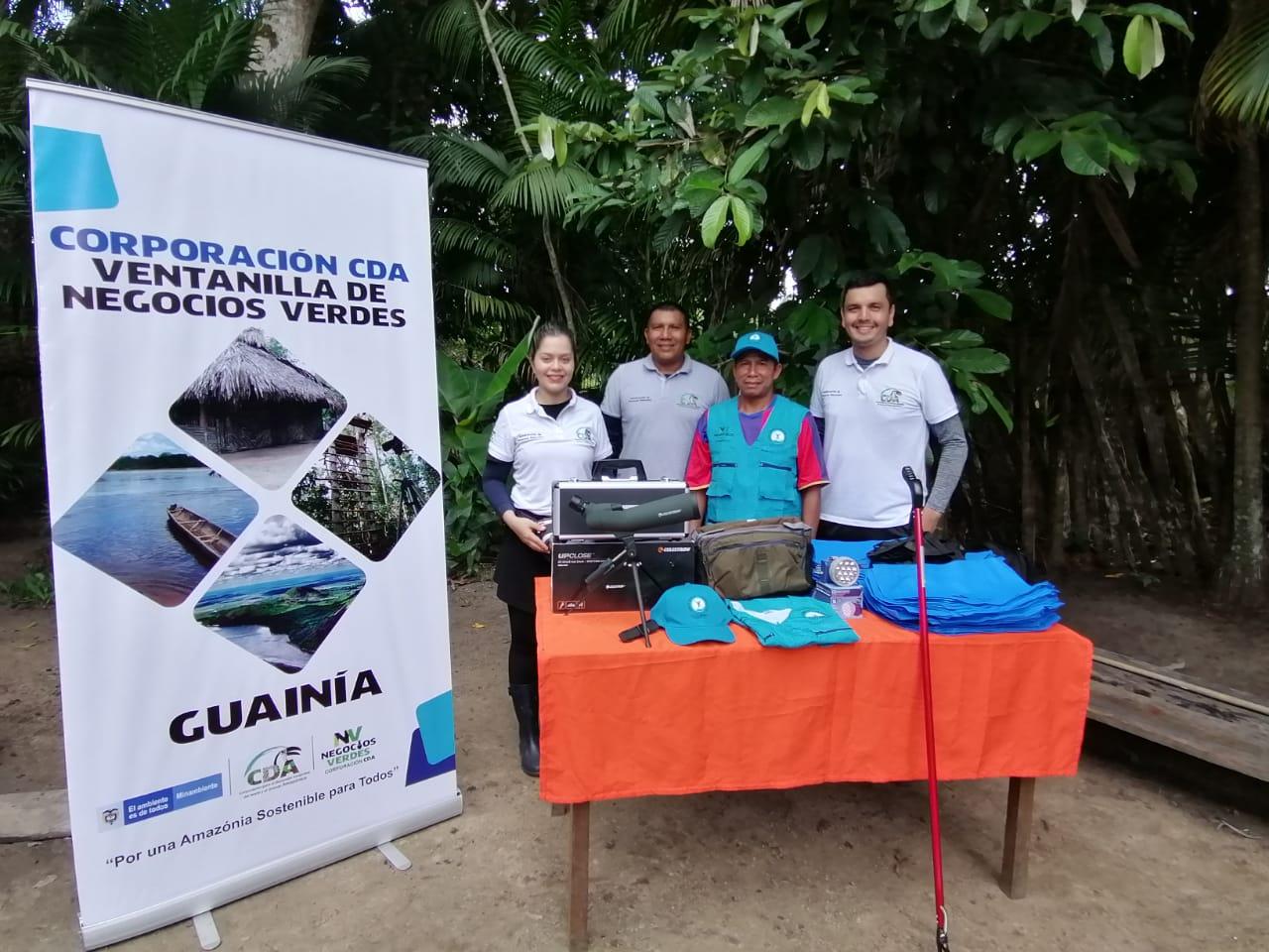 imagen alusiva a  La Corporación CDA realiza entregas de fortalecimientos a Negocios Verdes del Guainía
