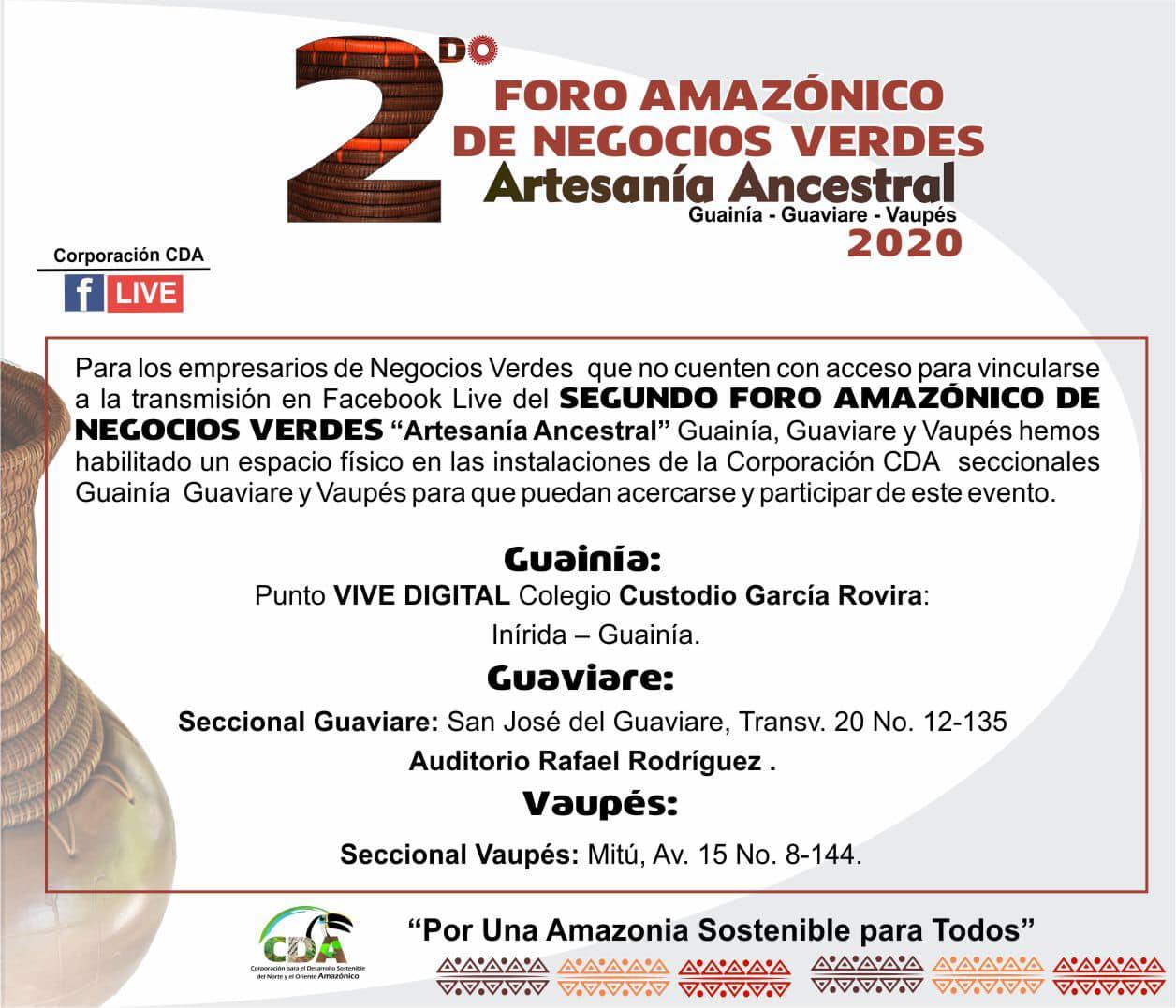 "imagen alusiva a  Espacios de proyección 2do Foro Amazónico de Negocios Verdes ""Artesanía Ancestral"""
